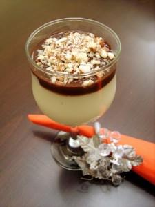 Çikolata Soslu Sakızlı Muhallebi