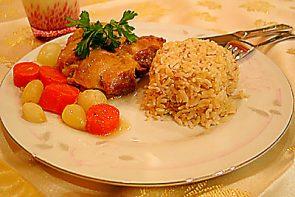 Arpacık Soğanlı Tavuk Ve Kepekli Pirinç Pilavı