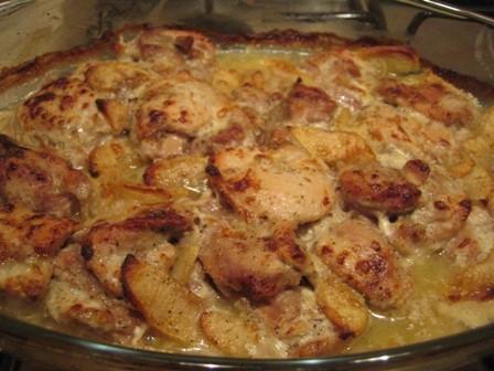 Elmalı Kremalı Tavuk